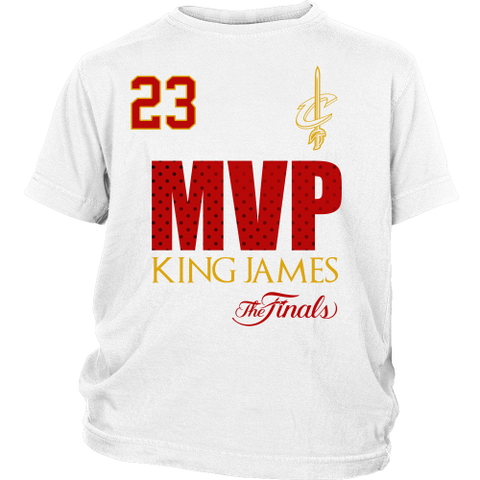 Cleveland Cavaliers 2016 NBA Champions Lebron James Finals MVP Youth Shirt- Free Shipping