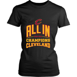 Cleveland Cavaliers ALL IN 2016 NBA Champions - District Womens Shirt - Free Shipping