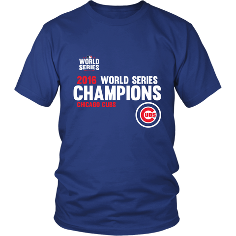 2016 World Series Champions Chicago Cubs MLB Cubs Unisex Shirt - Free Shipping