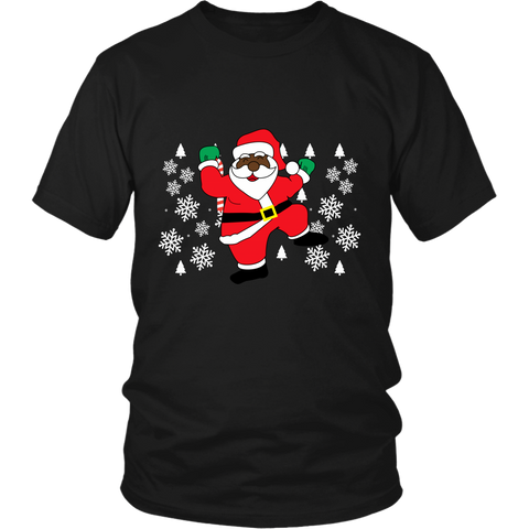 Hit Dem Folks Santa Ugly Christmas Sweater Unisex Shirt - Free Shipping