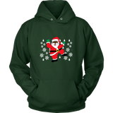Hit Dem Folks Santa Unisex Ugly Christmas Sweater Hoodie - Free Shipping
