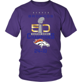 Denver Broncos SuperBowl 50 Championship Collection v7 Front & Back -District Unisex Shirt - Free Shipping