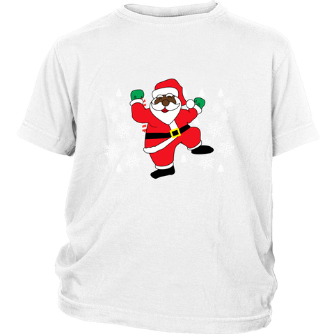 Hit Dem Folks Santa Ugly Christmas Sweater Youth Shirt - Free Shipping