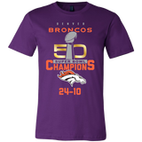 Denver Broncos SuperBowl 50 Championship Collection v5 Front & Back- Canvas Mens Shirt  - Free Shipping
