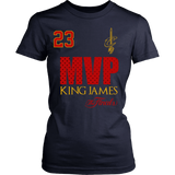 Cleveland Cavaliers 2016 NBA Champions - #23 Lebron James 2016 NBA Finals MVP - District Womens Shirt- Free Shipping