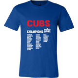 2016 World Series Champions Chicago Cubs MLB Cubs World Series Champions Team List Men's Shirt - Free Shipping