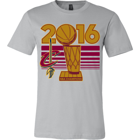Cleveland Cavaliers 2016 NBA Champions - NBA Finals Trophy - Canvas Mens Shirt - Free Shipping
