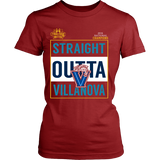 Straight Outta Villanova Wildcats 2016 NCAA Champions - District Womens Shirt - Free Shipping