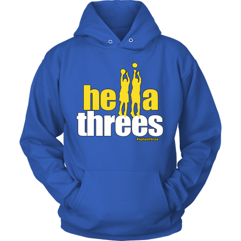 Golden State Warriors Hella Threes Splash Bros - Unisex Hoodie - Free Shipping