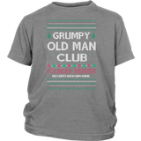 Grumpy Old Man Club Holiday Ugly Christmas Sweater Youth Shirt - Free Shipping