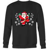 Hit Dem Folks White Santa Unisex Ugly Christmas Sweater - Free Shipping