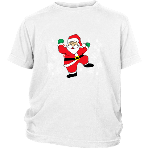 Hit Dem Folks White Santa Ugly Christmas Sweater Youth Shirt - Free Shipping