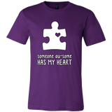 Someone Au-Some Has My Heart - Autism Awareness Canvas Mens Shirt - Free Shipping