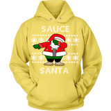 White Sauce Santa Ugly Christmas Sweater - Unisex Hoodie
