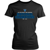 2016 NCAA Villanova Wildcats Division 1 Champions - District Womens Shirt Double Sided - Free Shipping