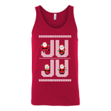 Ju Ju On That Beat White Santa Ugly Christmas Sweater Design- Canvas Unisex Tank Top
