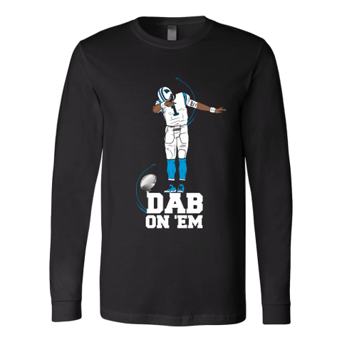 Carolina Panthers - Cam Newton - Dab On Em - Canvas Long Sleeve Shirt
