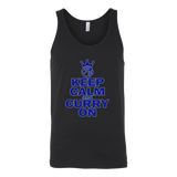 Golden State Warriors Keep Calm and Curry on - Steph Curry Canvas Unisex Tank - Free Shipping