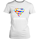 Autism Super Mom District Womens Shirt for Autism Awareness - Free Shipping