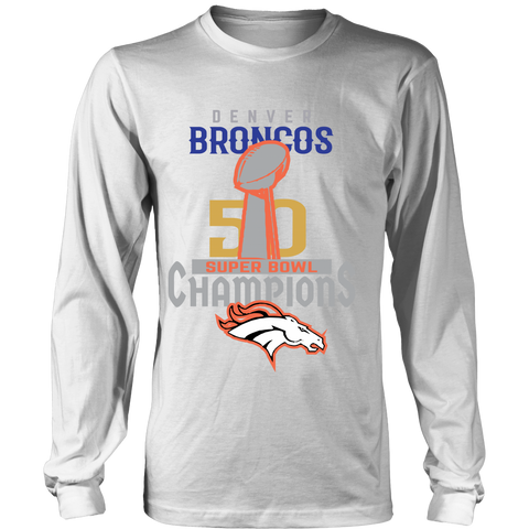 Denver Broncos SuperBowl 50 Championship Shirt Collection - District Long Sleeve - Free Shipping