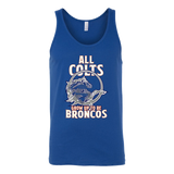 Denver Broncos - All Colts Grow Up to Be Super Broncos - Canvas Unisex Tank