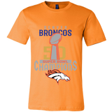 Denver Broncos SuperBowl 50 Championship Shirt Collection - Canvas Mens Shirt - Free Shipping
