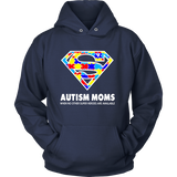 Autism Super Mom Hoodie for Autism Awareness - Free Shipping
