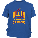 Cleveland Cavaliers ALL IN 2016 NBA Champions - District Youth Kids Shirt - Free Shipping