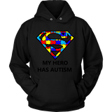 My Hero Has Autism -Autism Awareness Hoodie - Free Shipping