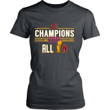 Cleveland Cavaliers All In NBA Trophy 2016 NBA Champions District Womens Shirt - Free Shipping