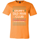 Grumpy Old Man Club Holiday Ugly Christmas Sweater Canvas Mens Shirt - Free Shipping
