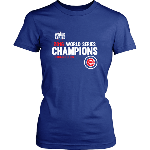 2016 World Series Champions Chicago Cubs MLB Cubs Women's Canvas Shirt - Free Shipping