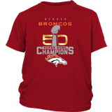 Denver Broncos SuperBowl 50 Championship District Youth Shirt for Kids