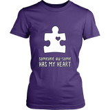 Someone Au-Some Has My Heart - Autism Awareness District Womens Shirt - Free Shipping