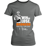 Denver Broncos Win Or Lose True Fan Tshirt - District Made Womens Shirt - Free Shipping