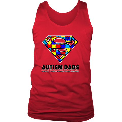 Autism Super Dad Mens District Mens Tank for Autism Awareness - Free Shipping