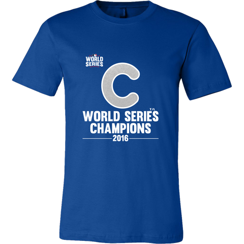 2016 World Series Champions Chicago Cubs MLB Men's Canvas Shirt - Free Shipping