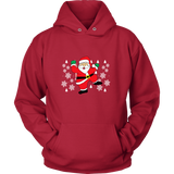 Hit Dem Folks White Santa Ugly Christmas Sweater Unisex Hoodie- Free Shipping