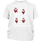 Ju Ju On That Beat Black Santa Ugly Christmas Sweater Design - District Kids Shirt