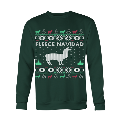 Fleece Navidad Ugly Christmas Sweater - Unisex