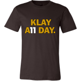 Klay Thompson Shirt - Golden State Warriors - Klay A11 Day - Canvas Mens Shirt - Free Shipping