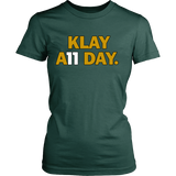 Klay Thompson Shirt - Golden State Warriors - Klay A11 Day - District Womens Shirt - Free Shipping