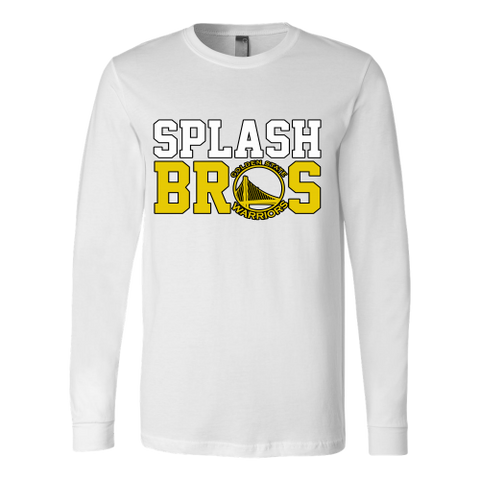 Golden State Warriors Splash Bros - Canvas Long Sleeve Shirt - Free Shipping