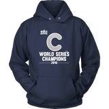 2016 World Series Champions Chicago Cubs MLB Unisex Hoodie - Free Shipping