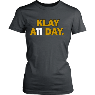 low priced 91f49 7d995 Klay Thompson Shirt - Golden State Warriors - Klay A11 Day - District  Womens Shirt - Free Shipping