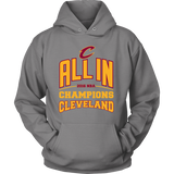 Cleveland Cavaliers ALL IN 2016 NBA Champions - Hoodie - Free Shipping