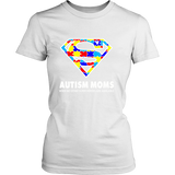 Autism Super Mom District Womens V-Neck Shirt for Autism Awareness - Free Shipping