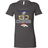 Denver Broncos SuperBowl 50 Championship Collection v1 - Bella Womens Shirt - Free Shipping