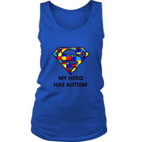 My Hero Has Autism -Autism Awareness District Womens Tank - Free Shipping