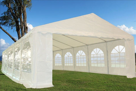 32'x16' Heavy Duty Wedding Party Tent Water Resistant White - Free Shipping